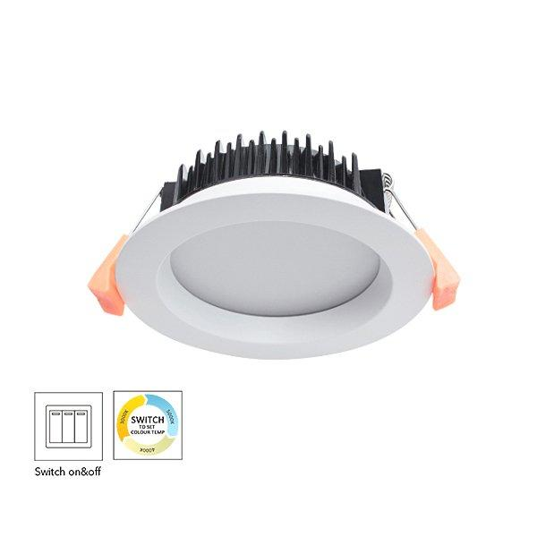 CCT Changeable By Switch Aluminum 9W Dimmable LED Downlight