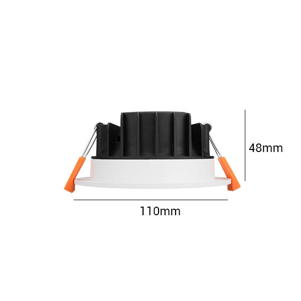 Thinner Profile 8W Recessed Integrated Multi Downlight