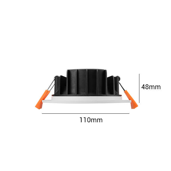 Thinner Profile 8W Flat Integrated Multi Downlight