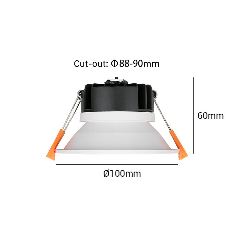 【COB single color】Multi-fit 9W Dimmable LED Downlight