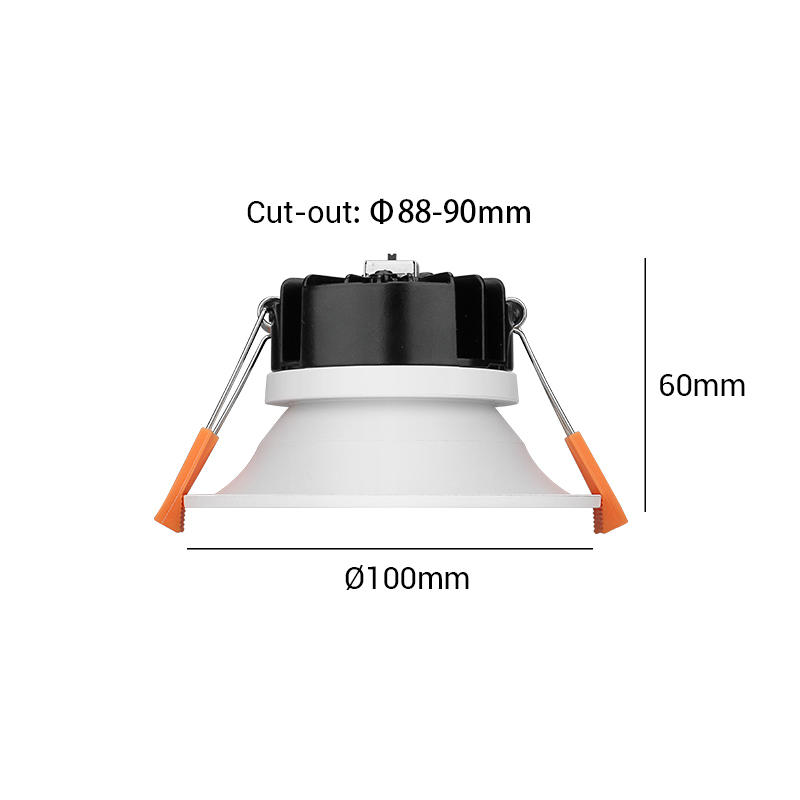 【COB Tri-color】Multi-fit 9W Dimmable LED Downlight