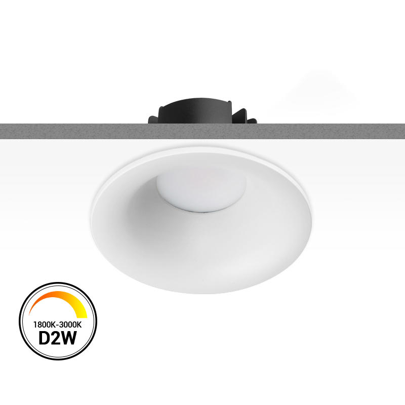 【 SMD(Diffuser) Dim-to-warm 】Multi-fit 9W Dimmable LED Downlight