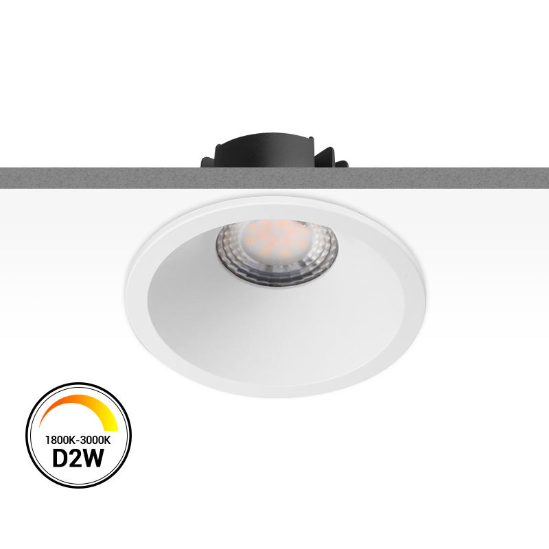 【 SMD(Lens) Dim-to-warm 】Multi-fit 9W Dimmable LED Downlight