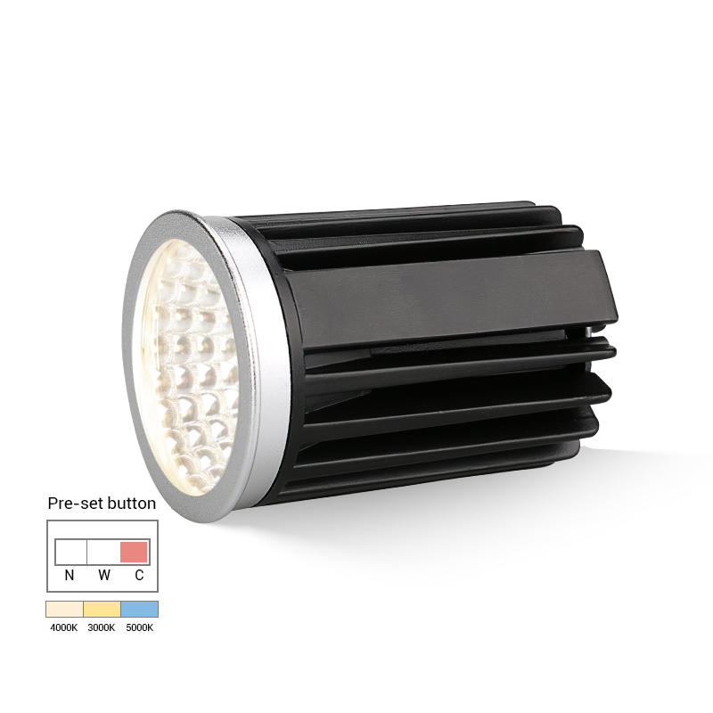 Tri-color changeable 9W COB LED MR16 Module downlight 【Reflector】