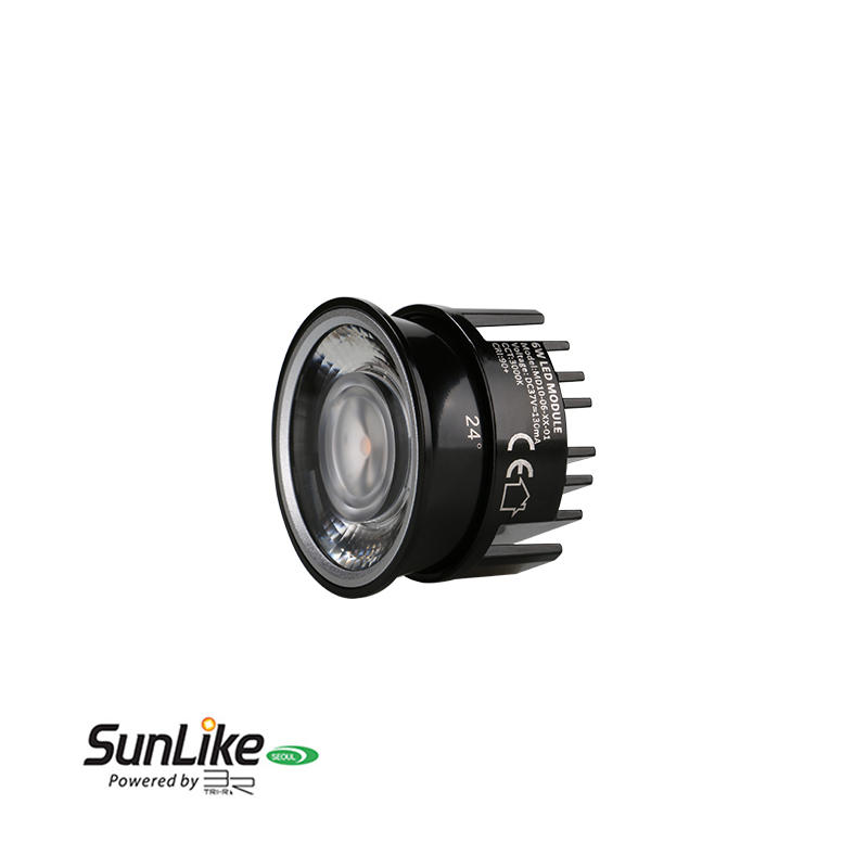 Low Profile Lens 6W Sunlike COB LED MR16 Module