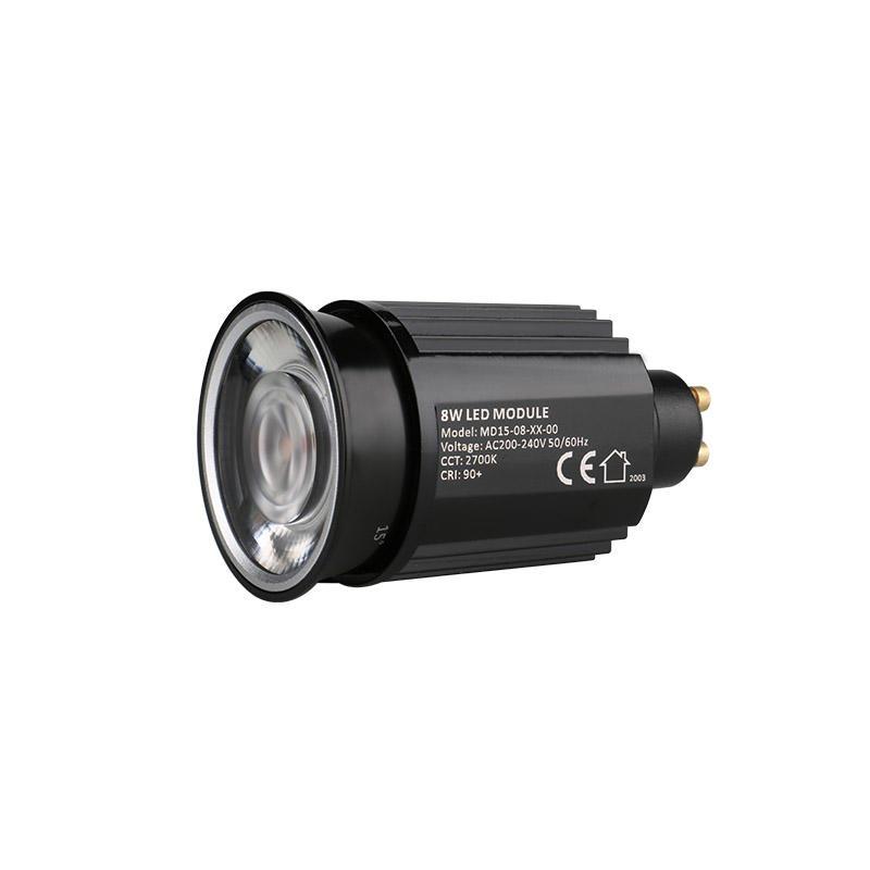Low Profile Lens 8W GU10 COB LED MR16 Module