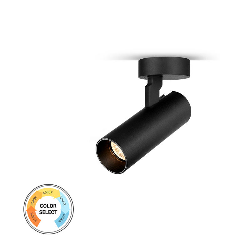 10W Flicker free 5-CCT dimmable surface mounted spot light