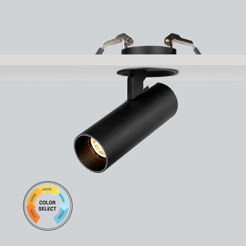 10W Flicker free 5-CCTdimmable recessed spot light