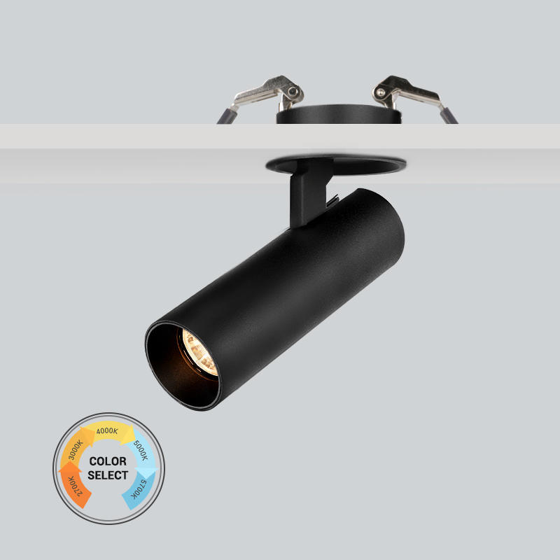15W Flicker free 5-CCTdimmable recessed spot light
